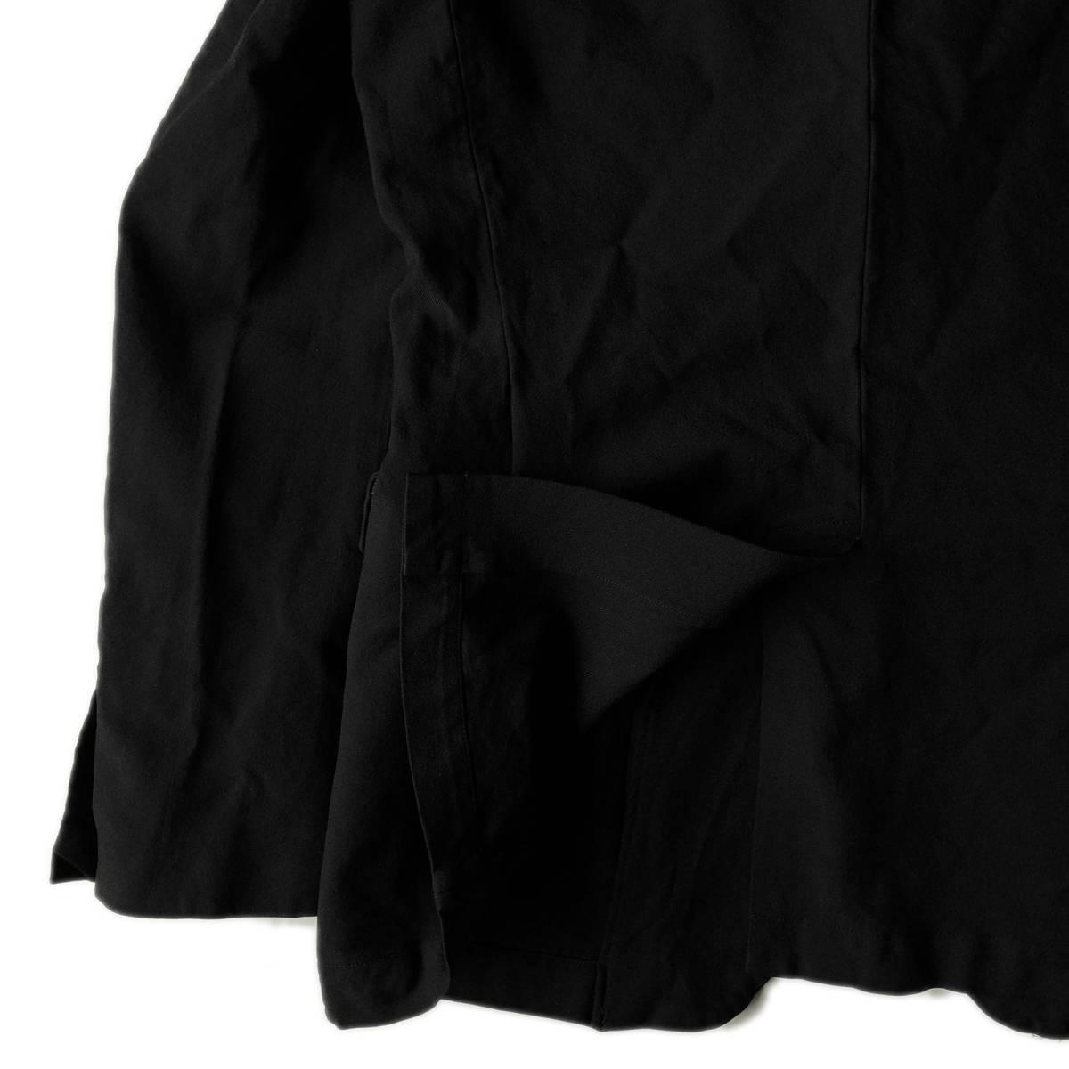AD2009 BLACK COMME des GARCONS ブラックコムデギャルソン ポリ縮 ジャケット ブラック ポリエステル縮絨 黒 M ※セットアップPTも出品中_画像7