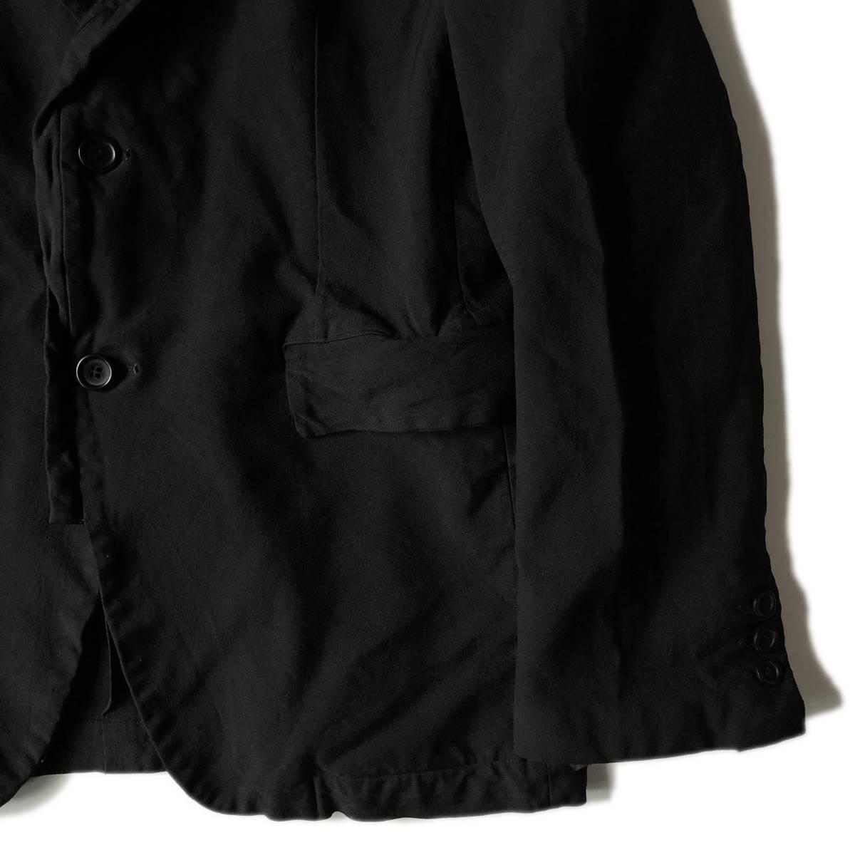 AD2009 BLACK COMME des GARCONS ブラックコムデギャルソン ポリ縮 ジャケット ブラック ポリエステル縮絨 黒 M ※セットアップPTも出品中_画像5
