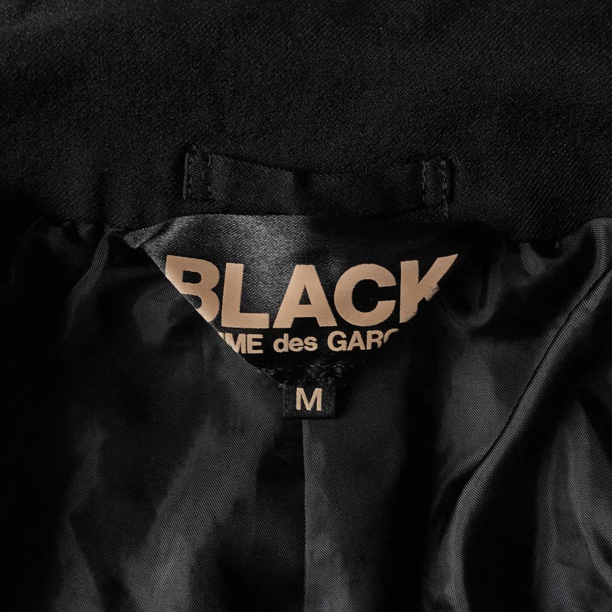 AD2009 BLACK COMME des GARCONS ブラックコムデギャルソン ポリ縮 ジャケット ブラック ポリエステル縮絨 黒 M ※セットアップPTも出品中_画像9