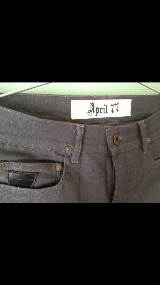 april77 joey 30 グレー スキニー エイプリル77 ジョーイ