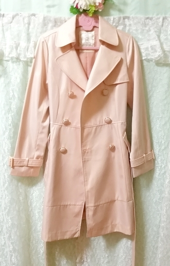 さくらピンクガーリートレンチコート Sakura pink girly trench coat_画像6