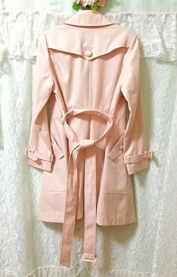 さくらピンクガーリートレンチコート Sakura pink girly trench coat_画像7