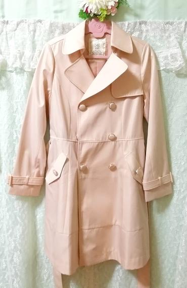 さくらピンクガーリートレンチコート Sakura pink girly trench coat_画像5