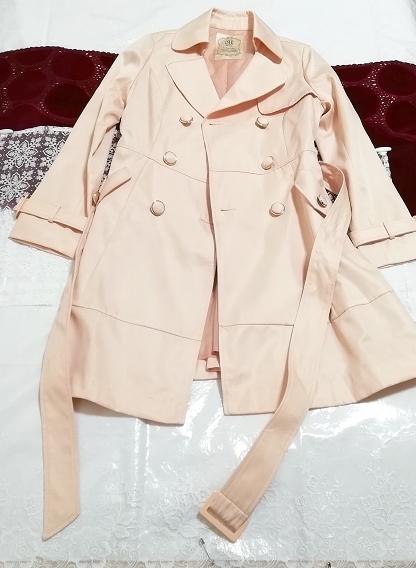 さくらピンクガーリートレンチコート Sakura pink girly trench coat_画像1