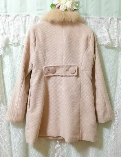 ブルーフォックスファーピンクベージュロングコート Blue fox fur pink beige long coat_画像10