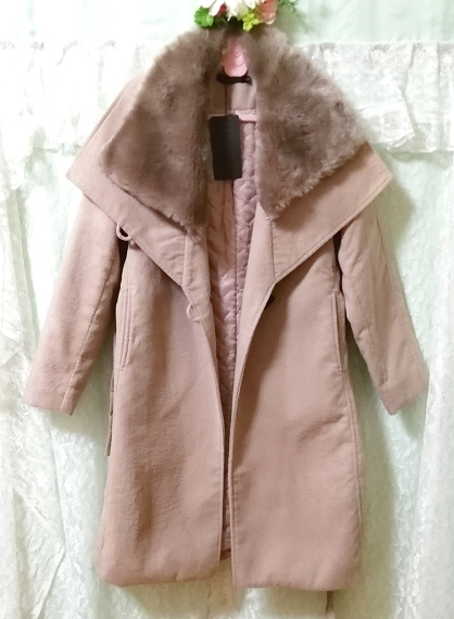 Daysiec ピンクベージュタグ付きロングコート Long coat with pink beige tag_画像4