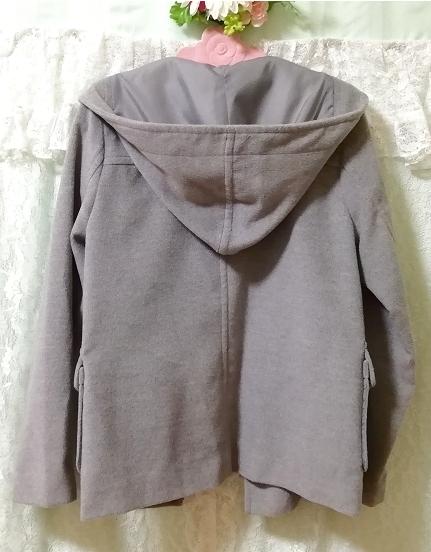 バングラデシュ製灰グレーダッフルコート Bangladesh ash gray duffel coat_画像6