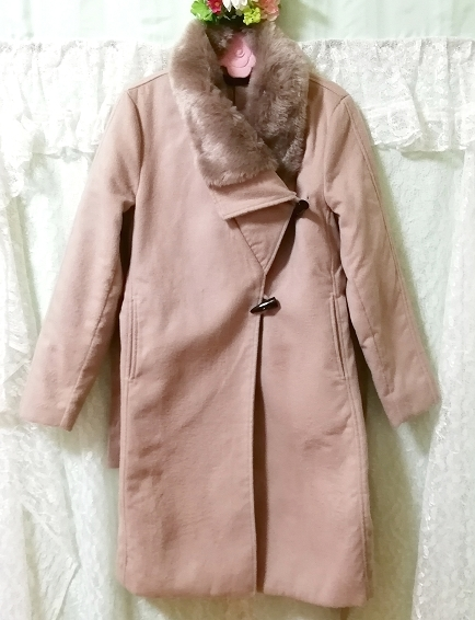 Daysiec ピンクベージュタグ付きロングコート Long coat with pink beige tag_画像5