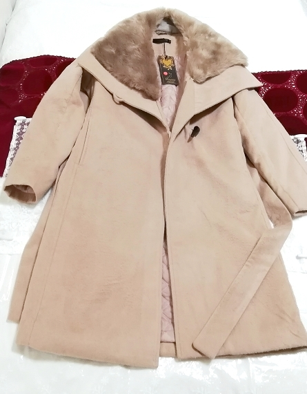 Daysiec ピンクベージュタグ付きロングコート Long coat with pink beige tag_画像1