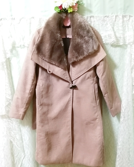 Daysiec ピンクベージュタグ付きロングコート Long coat with pink beige tag_画像6