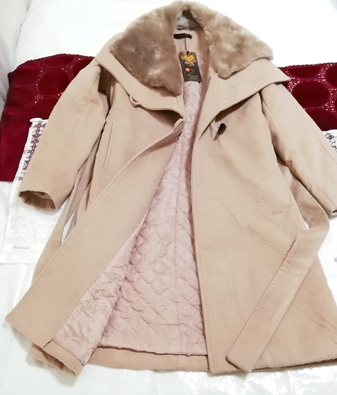 Daysiec ピンクベージュタグ付きロングコート Long coat with pink beige tag_画像2