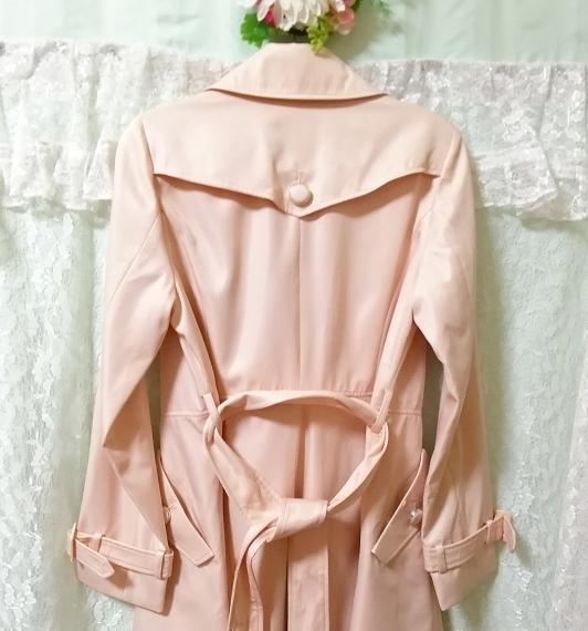 さくらピンクガーリートレンチコート Sakura pink girly trench coat_画像8
