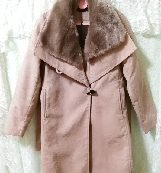 Daysiec ピンクベージュタグ付きロングコート Long coat with pink beige tag_画像7