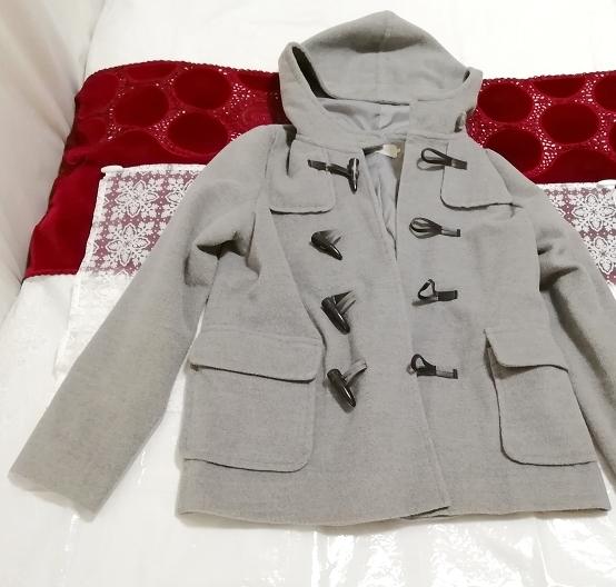 バングラデシュ製灰グレーダッフルコート Bangladesh ash gray duffel coat_画像1