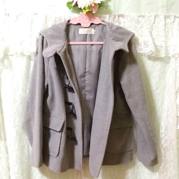 バングラデシュ製灰グレーダッフルコート Bangladesh ash gray duffel coat_画像5