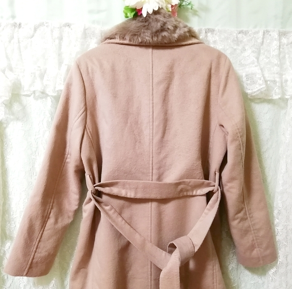 Daysiec ピンクベージュタグ付きロングコート Long coat with pink beige tag_画像9