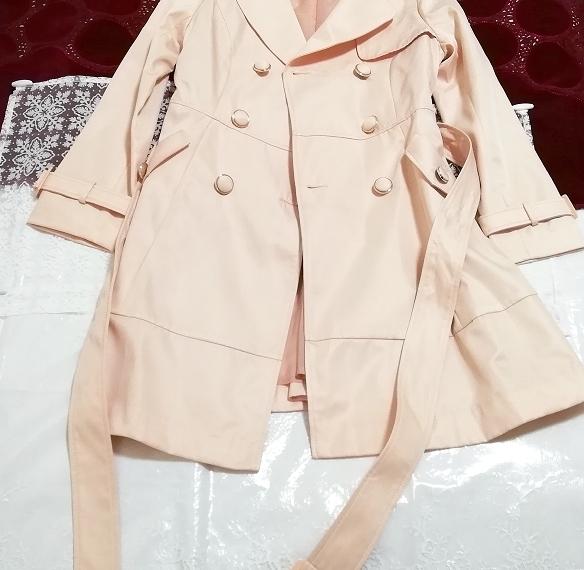 さくらピンクガーリートレンチコート Sakura pink girly trench coat_画像3