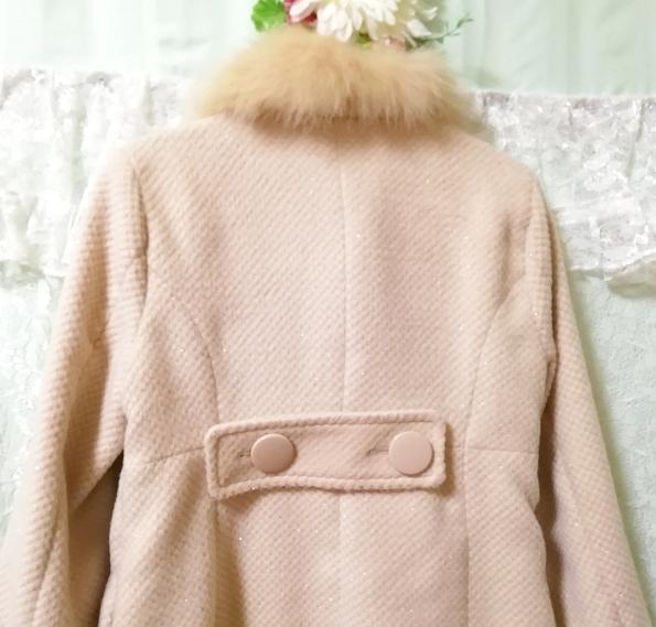 ブルーフォックスファーピンクベージュロングコート Blue fox fur pink beige long coat_画像8