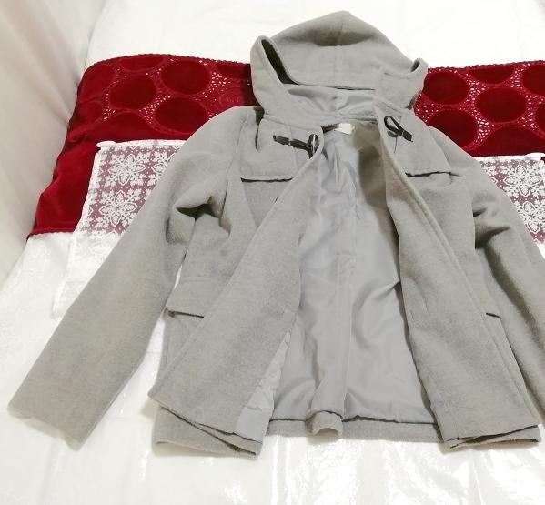 バングラデシュ製灰グレーダッフルコート Bangladesh ash gray duffel coat_画像3