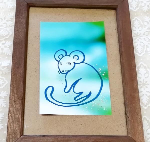 ハガキ ■ 動物アニマル手描きオリジナル素材絵原画はがきイラスト ■ カラー 7_画像1