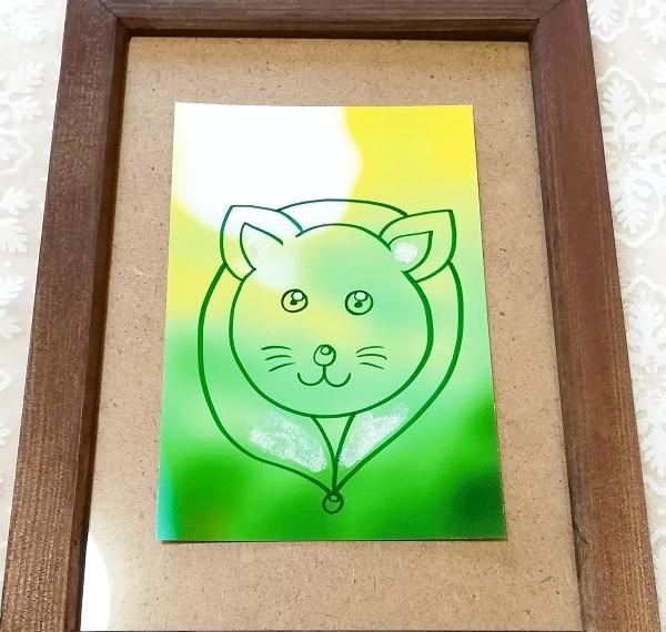 ハガキ ■ 動物アニマル手描きオリジナル素材絵原画はがきイラスト ■ カラー 11_画像1