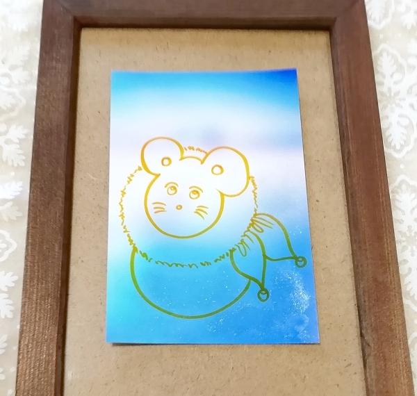 ハガキ ■ 動物アニマル手描きオリジナル素材絵原画はがきイラスト ■ カラー 19_画像1