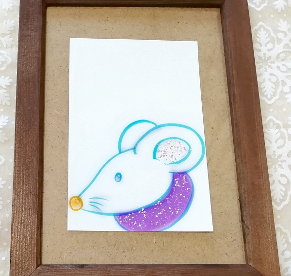 ハガキ ■ 動物アニマル手描きオリジナル素材絵原画はがきイラスト ■ 白地カラー 12_画像1