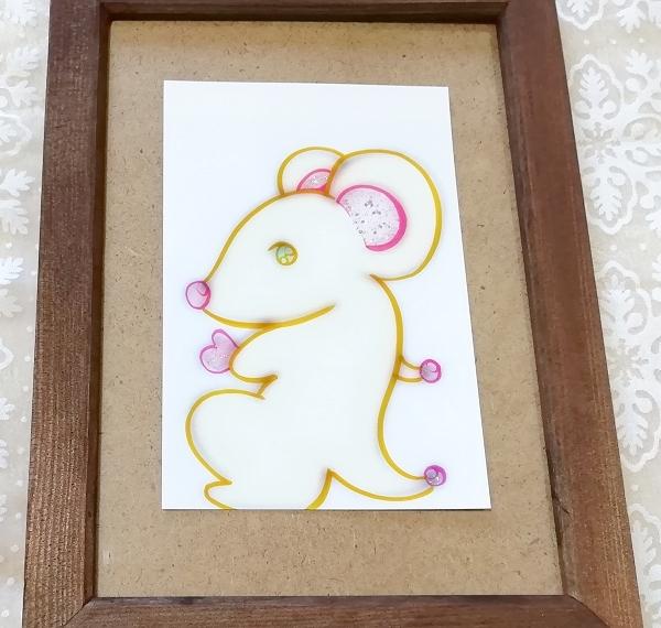 ハガキ ■ 動物アニマル手描きオリジナル素材絵原画はがきイラスト ■ 白地カラー 22_画像1