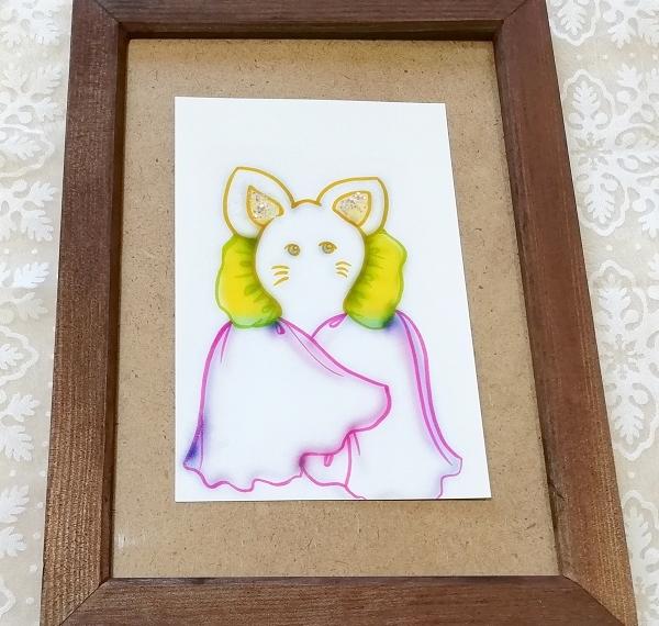 ハガキ ■ 動物アニマル手描きオリジナル素材絵原画はがきイラスト ■ 白地カラー 33_画像1