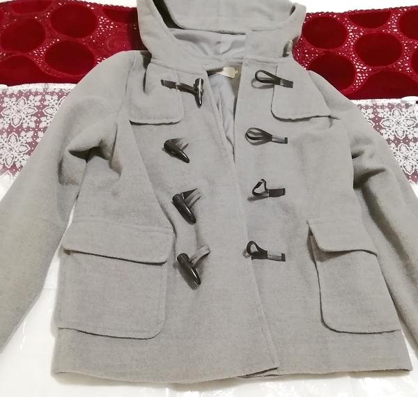 バングラデシュ製灰グレーダッフルコート Bangladesh ash gray duffel coat_画像2