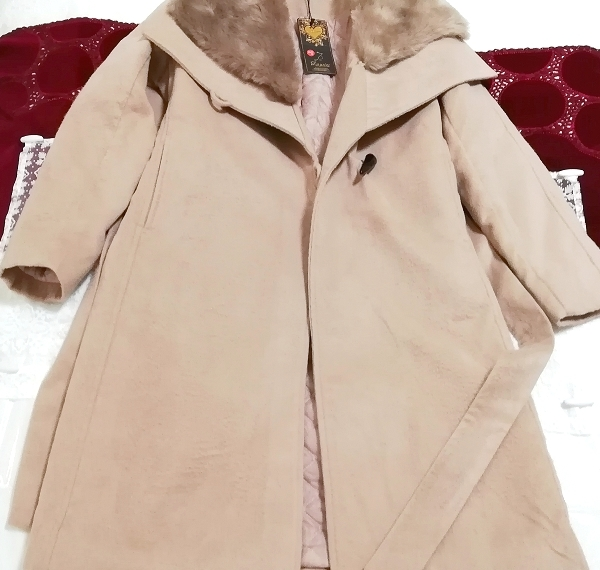 Daysiec ピンクベージュタグ付きロングコート Long coat with pink beige tag_画像3