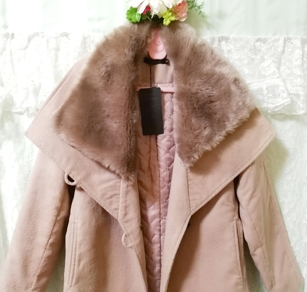 Daysiec ピンクベージュタグ付きロングコート Long coat with pink beige tag_画像8