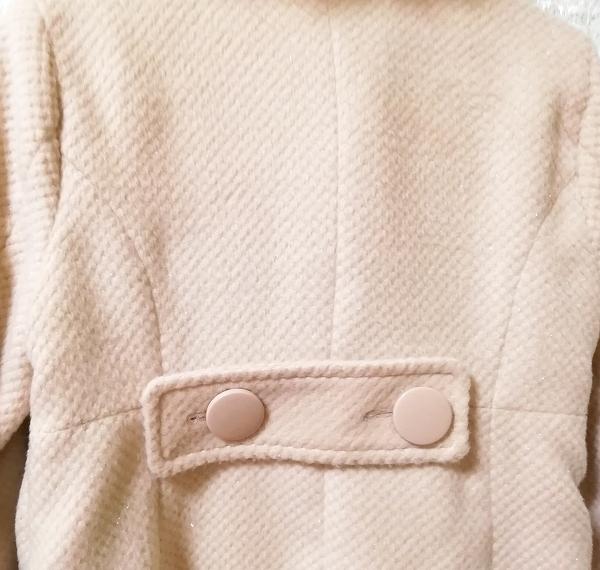 ブルーフォックスファーピンクベージュロングコート Blue fox fur pink beige long coat_画像2