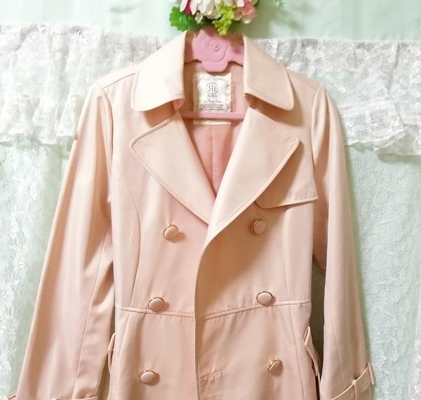 さくらピンクガーリートレンチコート Sakura pink girly trench coat_画像10