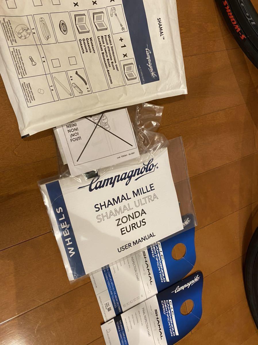 1円から!カンパニョーロ シャマルミレ ブラック CANPAGNOLO SHAMAL MILLE USBベアリング_画像9