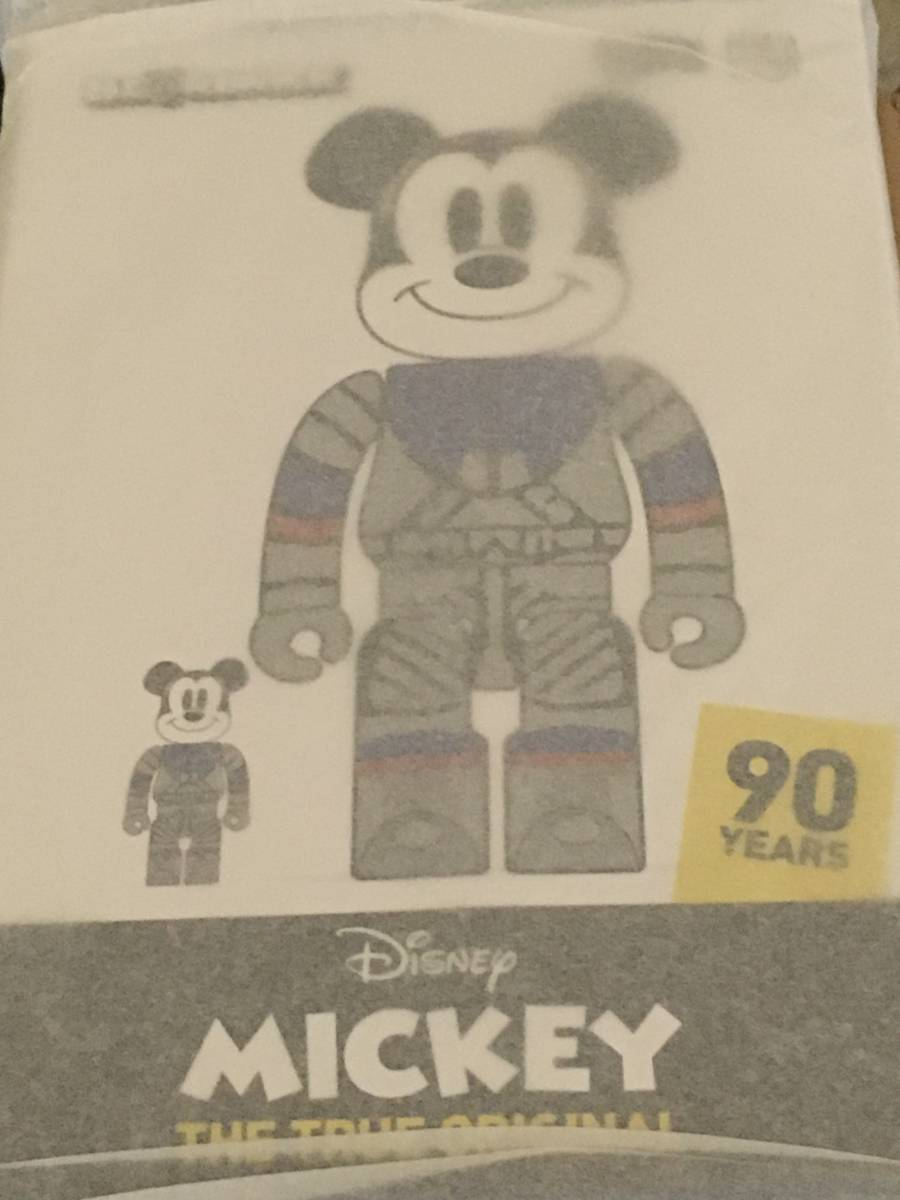 ★新品 BE@RBRICK BILLIONAIRE BOYS CLUB MICKEY MOUSE 100% & 400% ミッキーマウス ベアブリック_画像3