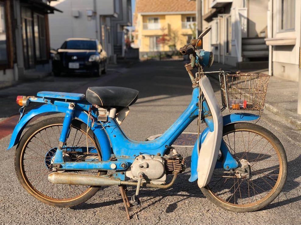 「HONDA ホンダ リトルホンダ PC50 モペッド 自転車バイク 昭和 部品取り レストアベース 現状 12-18」の画像1