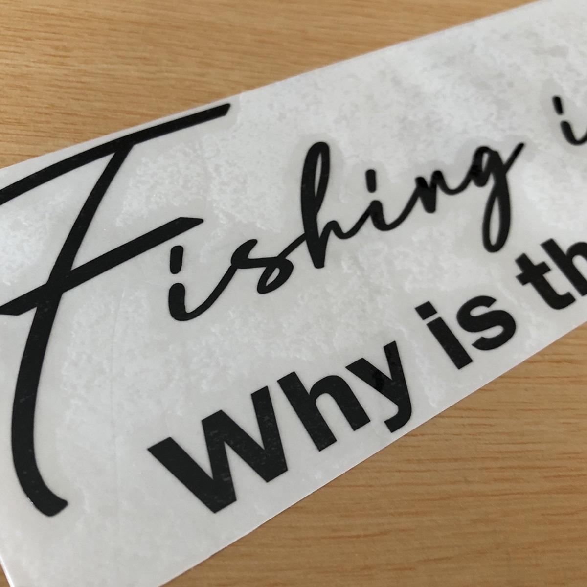 Fishing is my Life!(手書き風文字)カッティングステッカー Why is the fishing so fun?どうして釣りはこんなに楽しいのか?NO519_画像3
