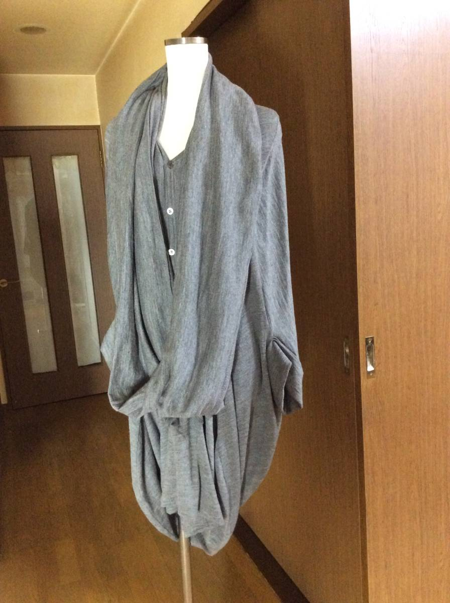 ジュンヤワタナベ コムデギャルソン 変形ドレープデザインワンピース セーターにも 2way グレー