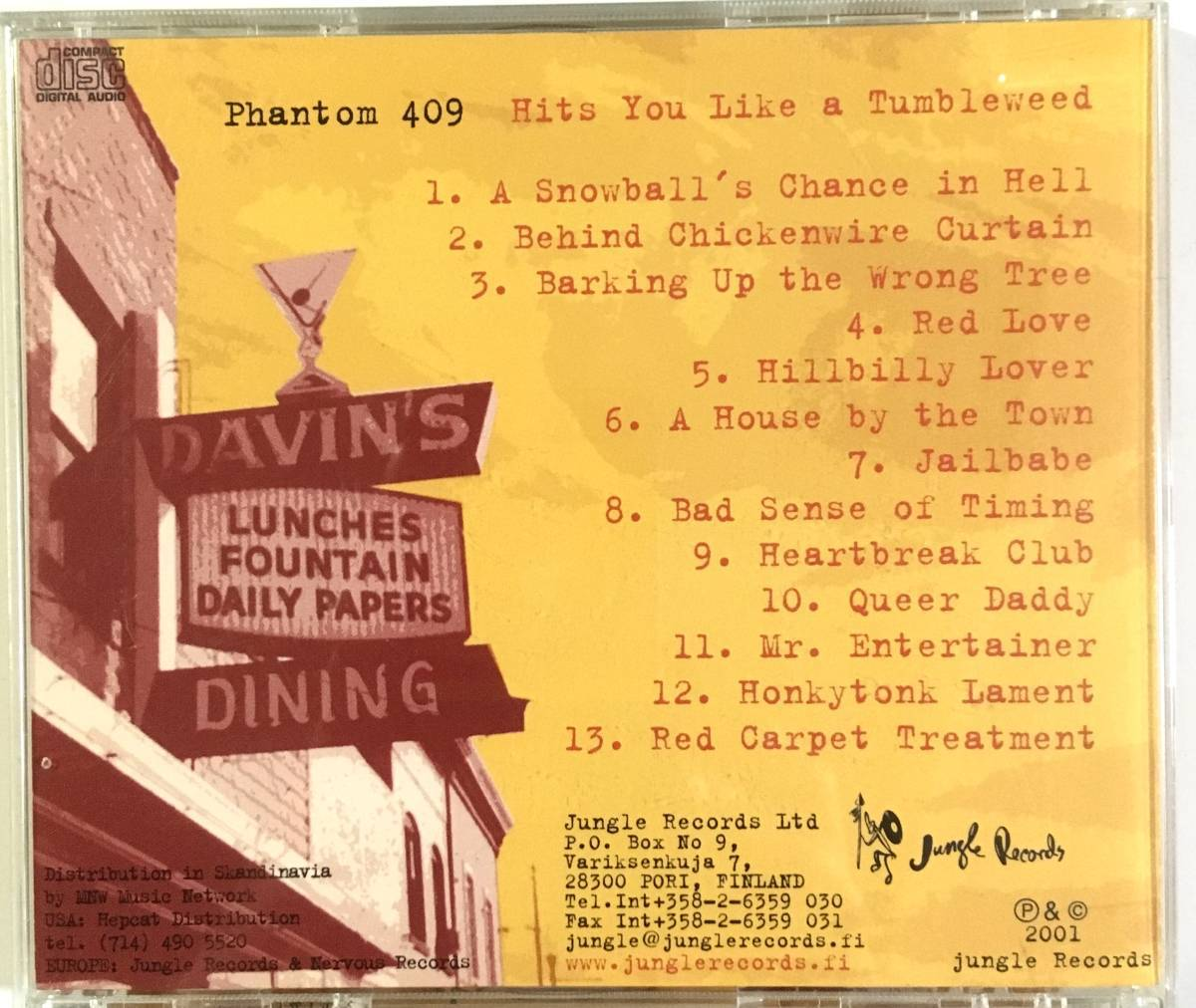 CD Phantom 409/Hits You Like A Tumbleweed ネオロカビリー サイコビリー runaway boys boppin'b roughnecks ace cats cruisers keytones_画像2