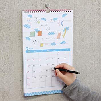 学研ステイフル てるてる天使 2020年 カレンダー 壁掛け CM12091_画像7