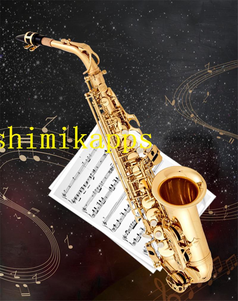 高品質 サックス アルトサックス 金管楽器 演奏 E flat 初心者 黄銅 楽器 ケース付き d40