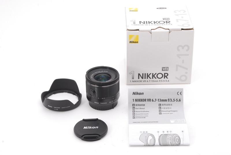 【ランクAB】 ニコン Nikon 1 NIKKOR 6.7-13mm F3.5-5.6 VR ブラック 元箱付き (#493)