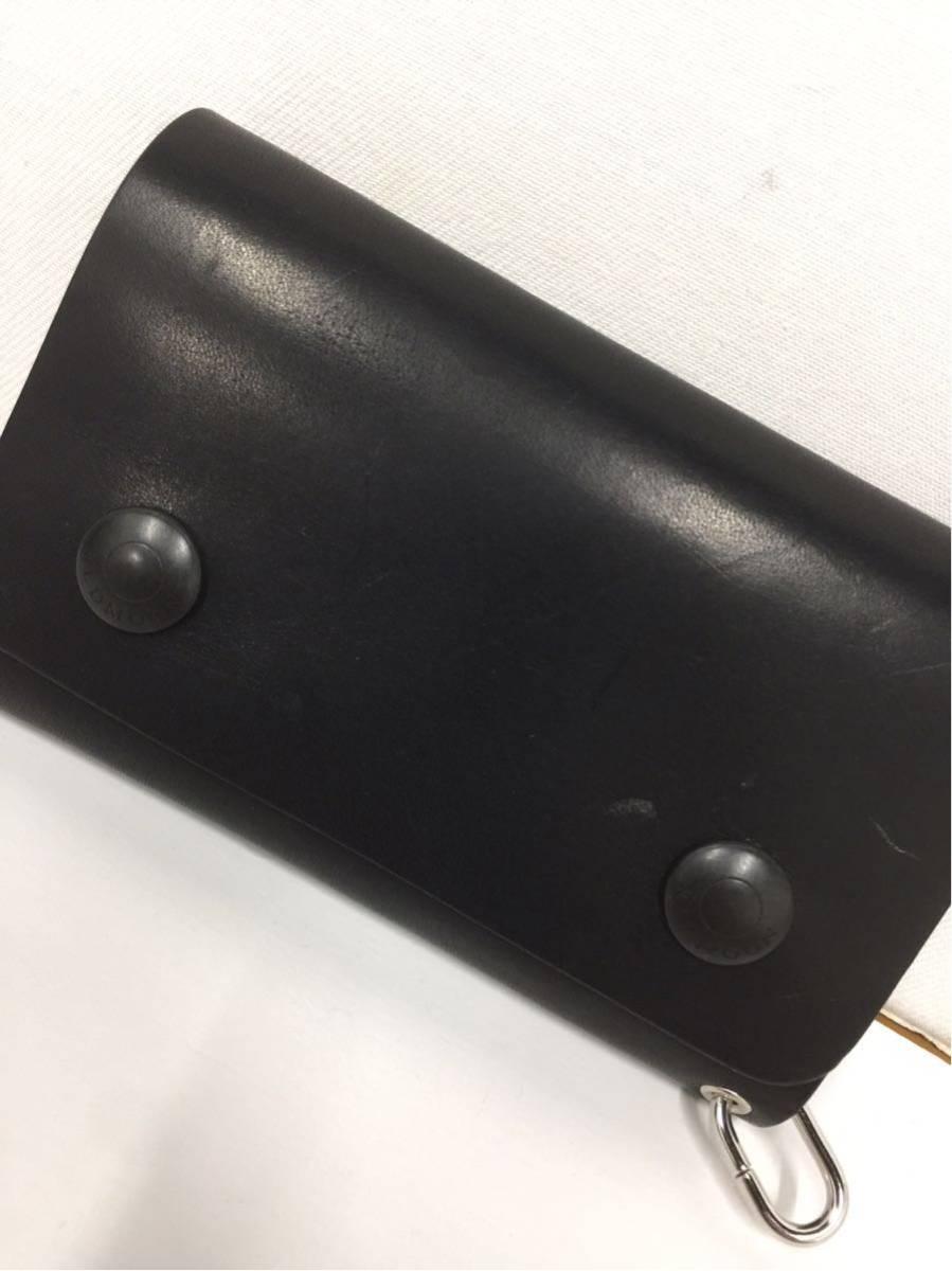 【RED MOON】レッドムーン ショートウォレット短財布 三つ折り ドラムレザー 牛革★黒 ブラック TW01-MID 12_画像7
