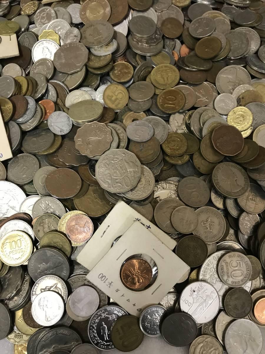 103312008 おまとめ 外国銭 硬貨 貨幣 海外 世界 コイン coin 約10キロ ガーナ パキスタン ジャマイカ 韓国 ルマンダ エクアドル 他_画像5