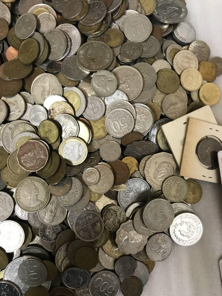 103312008 おまとめ 外国銭 硬貨 貨幣 海外 世界 コイン coin 約10キロ ガーナ パキスタン ジャマイカ 韓国 ルマンダ エクアドル 他_画像4