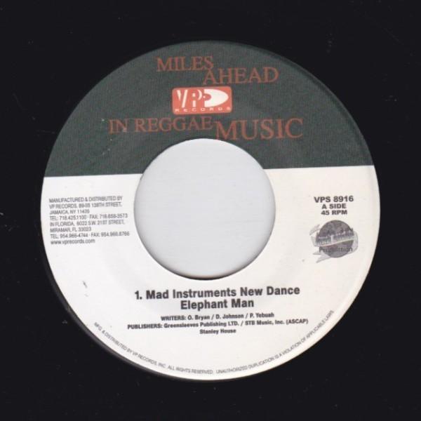 EPレコード ELEPHANT MAN / MAD INSTRUMENTS NEW DANCE (MAD INSTRUMENT)_画像1