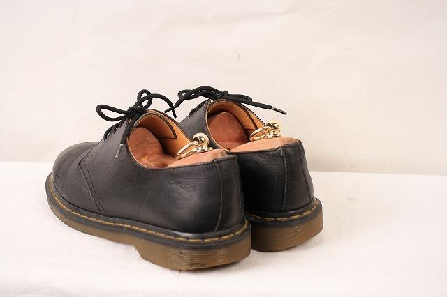 ドクターマーチン UK7/25.5cm-26.0cm/3ホール 黒 ブラック ブーツ レザー メンズ レディース dr.martens 中古 古着 dm3209_画像2