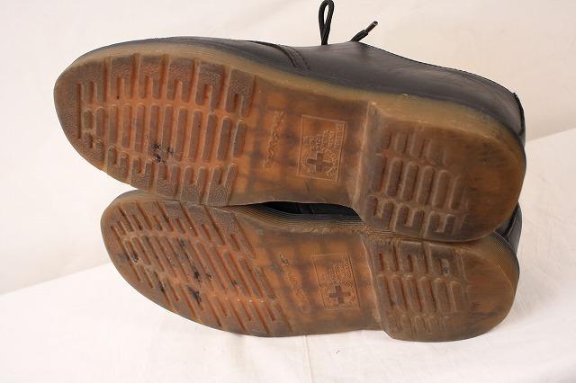 ドクターマーチン UK7/25.5cm-26.0cm/3ホール 黒 ブラック ブーツ レザー メンズ レディース dr.martens 中古 古着 dm3209_画像4