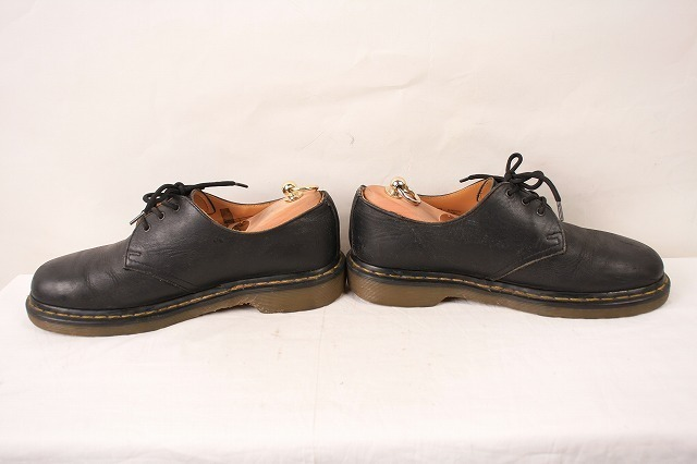 ドクターマーチン UK7/25.5cm-26.0cm/3ホール 黒 ブラック ブーツ レザー メンズ レディース dr.martens 中古 古着 dm3209_画像5